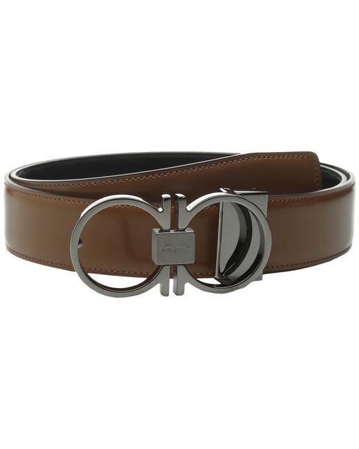 Ferragamo Reversible\/adjustable Belt - 678942 in Black for Men (cuoio ...