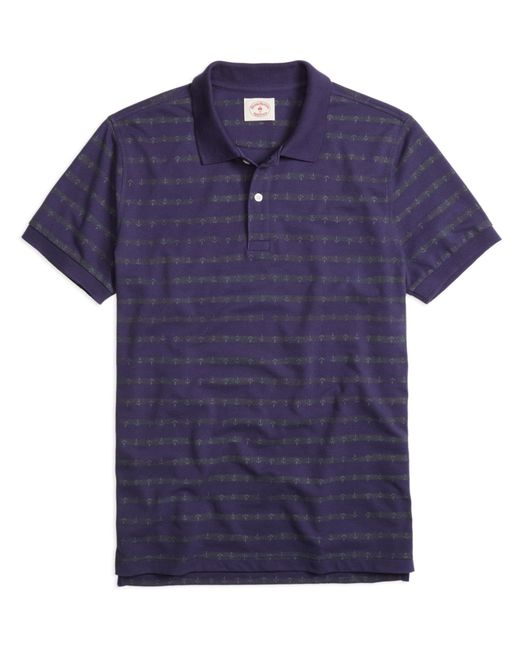 Brooks Brothers | Blue Anchor Stripe Polo Shirt for Men | Lyst