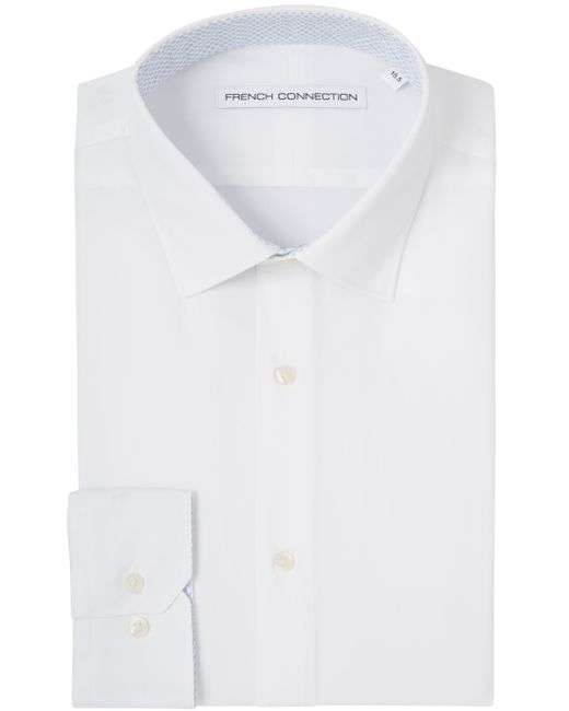 French connection slim fit white single cuff shirt in White french cuff shirt slim fit