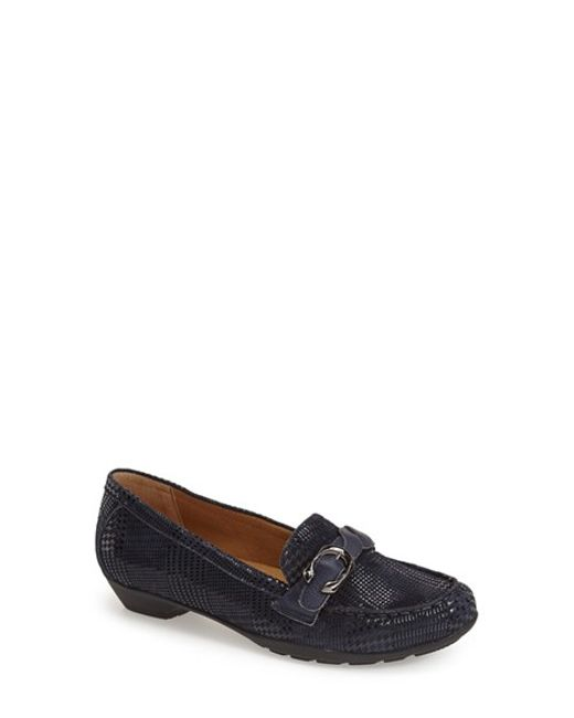 Softspots | Blue 'Peron' Buckle Loafer | Lyst