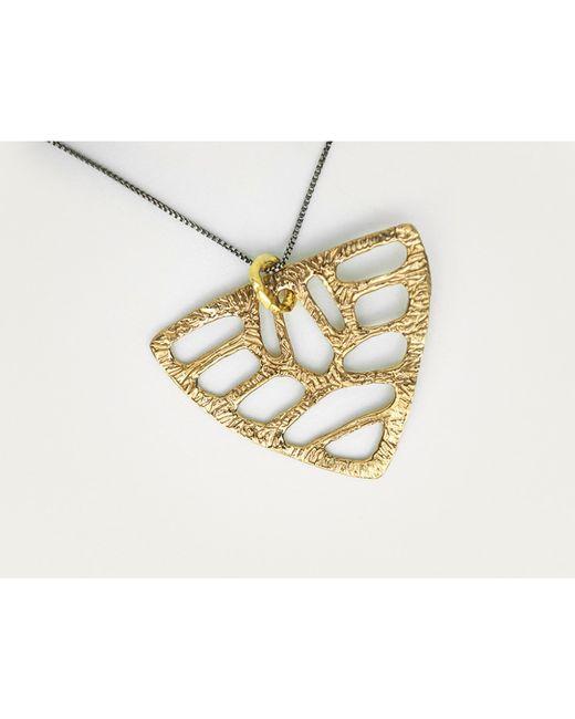 Odette New York | Metallic Shield Necklace | Lyst