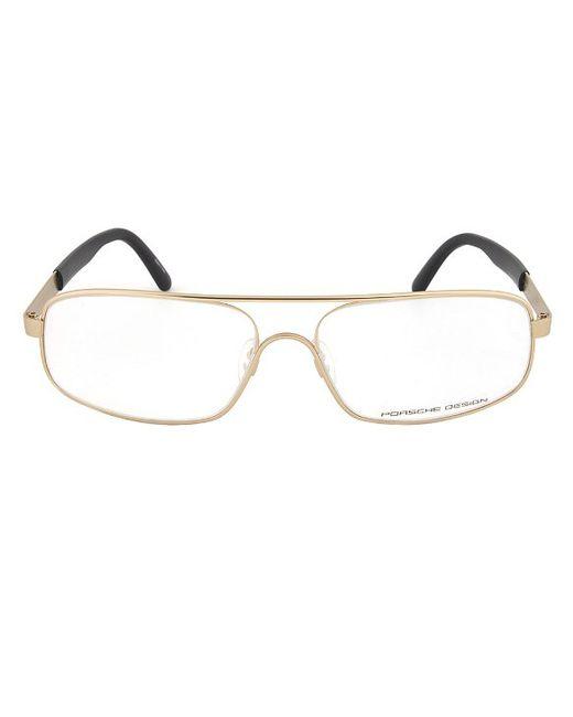 Porsche design Design P8225 C Gold Eyeglasses Frame Size ...