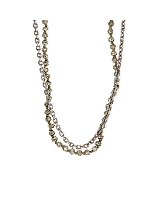 M. Cohen | Metallic Double-strand Necklace for Men | Lyst