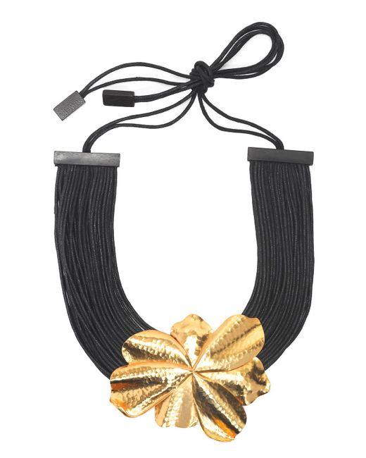Natori | Metallic Josie Metal Floral Necklace | Lyst
