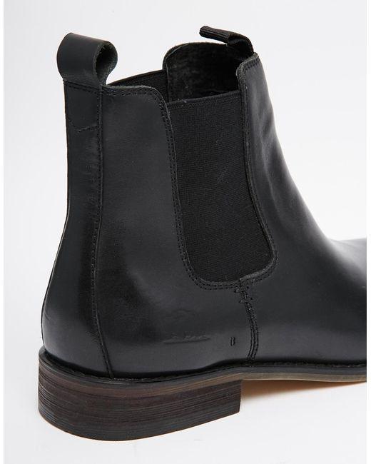 Bellfield Leather Chelsea Boots In Black For Men Lyst