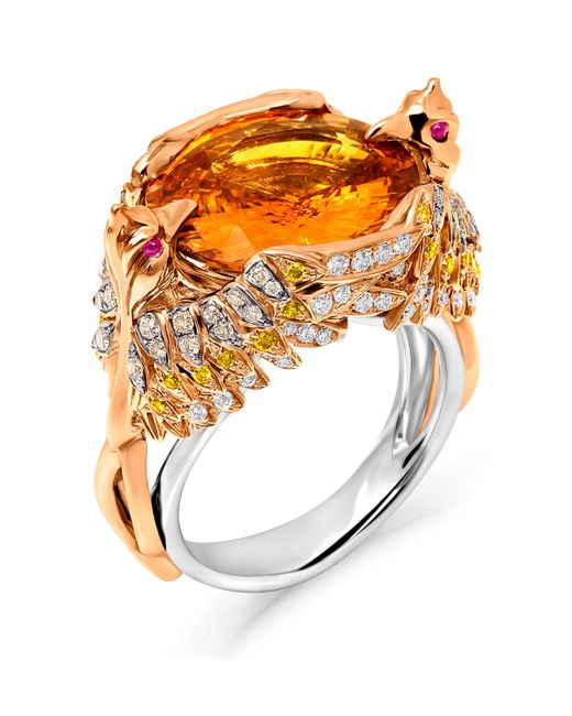 Tomasz Donocik | Orange From The Flames Phoenix Ring | Lyst