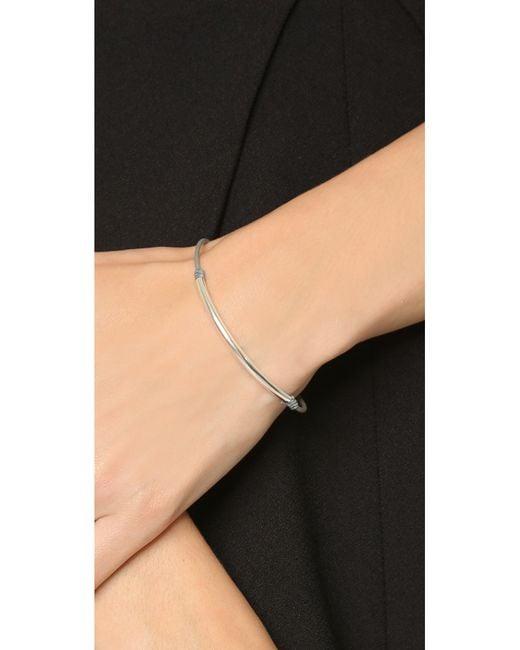 Dogeared | Metallic Balance Tube Bracelet | Lyst