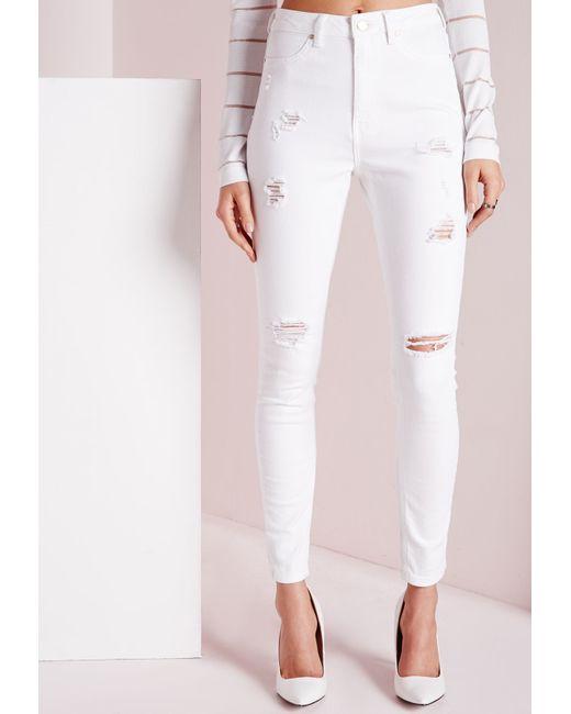 White Denim High Waist Shorts $ Dark Denim Ripped Destroyed High Waist Shorts $ Light Denim High Waist Lace Up Ankle Skinny Jeans Dark Denim Sandblast Ripped High Waist Skinny Jeans $ Blue Medium Wash Denim High-Waist Skinny Jeans $ Dark Wash Denim High-Waist Skinny Jeans.