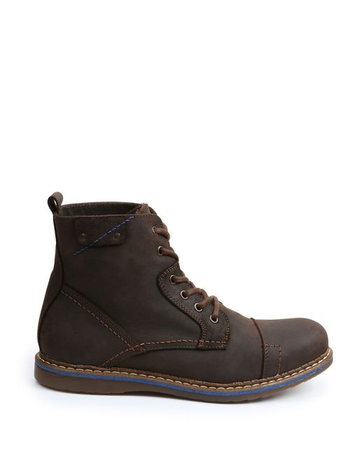 gbx fane leather boots in brown for lyst