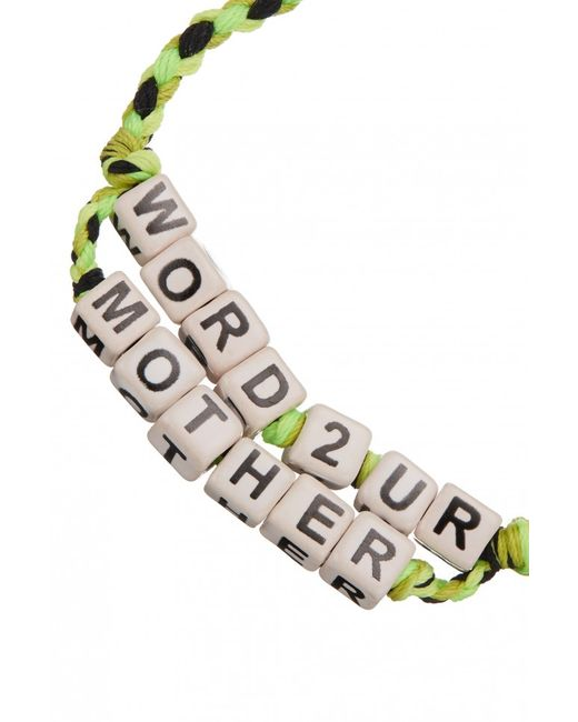 Venessa Arizaga   Green Exclusive   Word To Your Mother Bracelet   Lyst