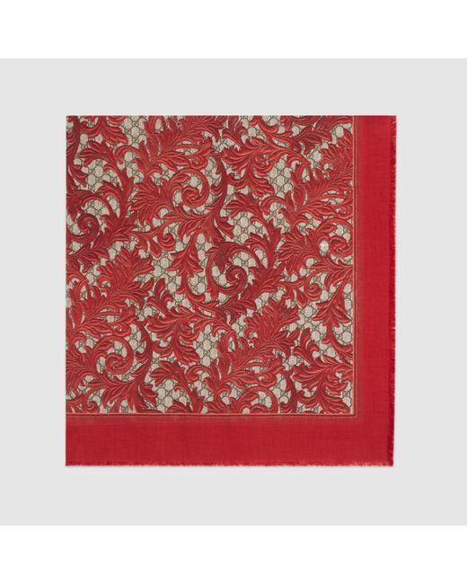 Gucci Arabesque Print Modal Silk - 49.0KB