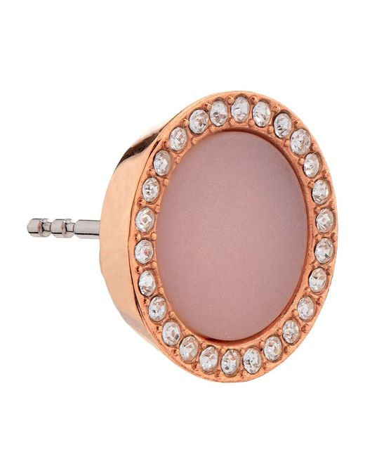 Michael Kors | Pink Blush Pave Stud Earrings | Lyst