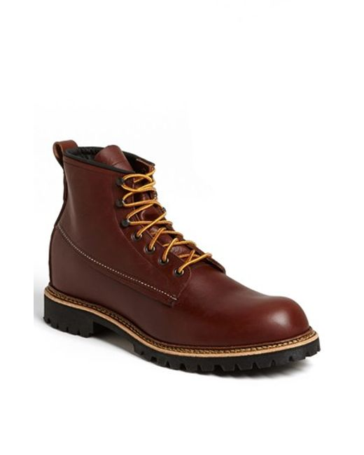 Red Wing | Red 'ice Cutter' Round Toe Boot for Men | Lyst