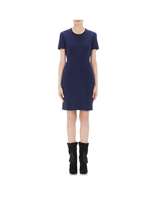 Lanvin | Blue Women's Bonded Jersey Dress | Lyst