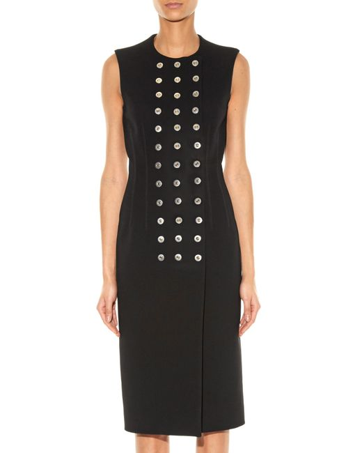 Balenciaga | Black Rivet-detail Sleeveless Dress | Lyst