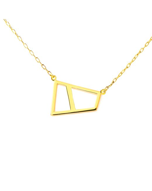 Ona Chan Jewelry | Metallic Double Lattice Necklace Gold | Lyst