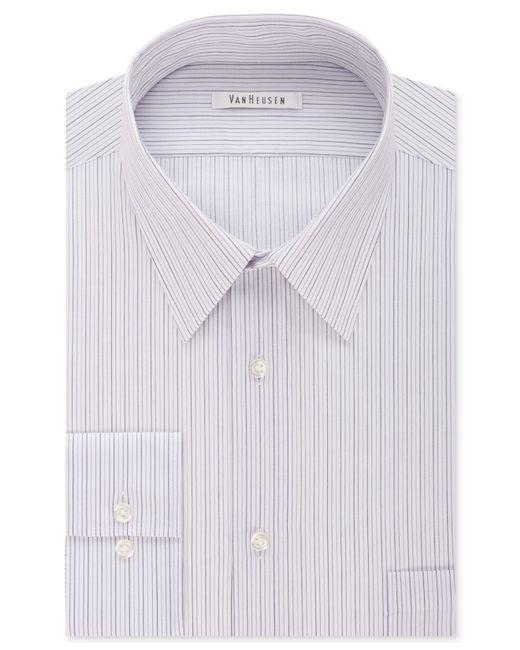 Van heusen tek fit flex collar faded purple stripe dress for Van heusen shirts flex collar