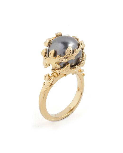 Kasun | Metallic Dark Grey Pearl Ring | Lyst