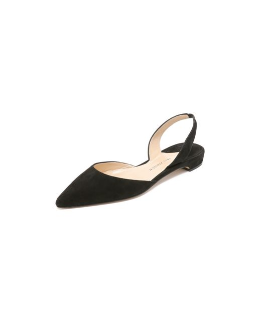 Paul Andrew | Black Rhea Suede Flats | Lyst