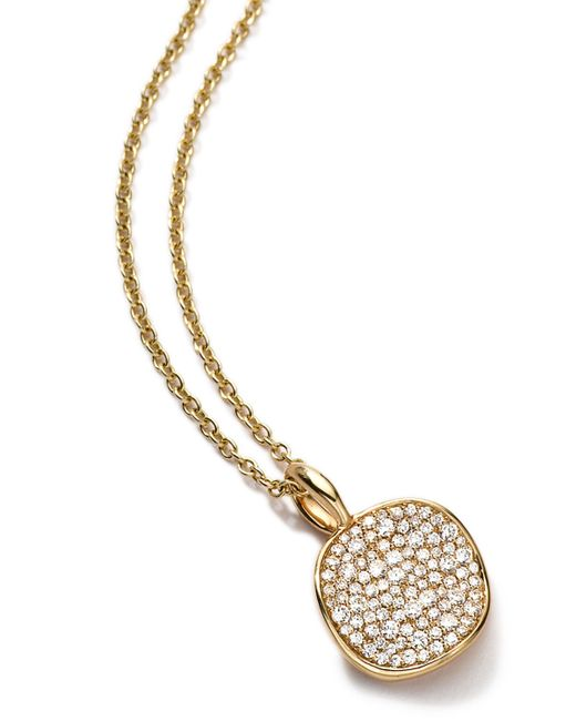 Ippolita | Metallic 18k Medium Pave Diamond Disc Charm | Lyst