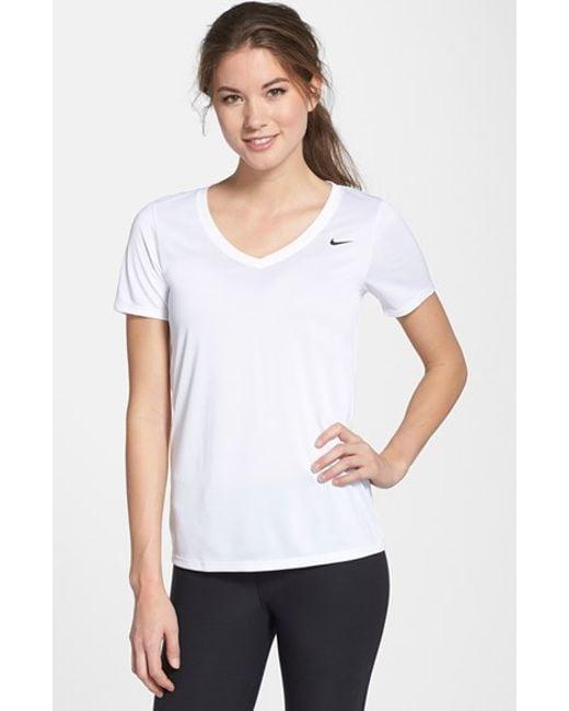 Nike | White 'legend 2.0' Short Sleeve V-neck Tee | Lyst