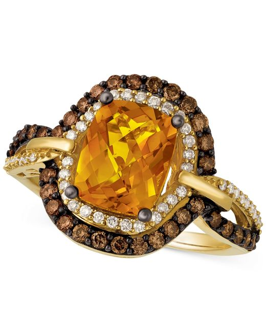 Le Vian | Metallic Citrine (1-9/10 Ct. T.w.) And Diamond (2/3 Ct. T.w.) Ring In 14k Gold | Lyst