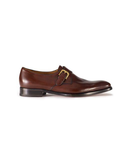 Ralph Lauren | Brown Darnell Calf Monk-strap Shoe for Men | Lyst