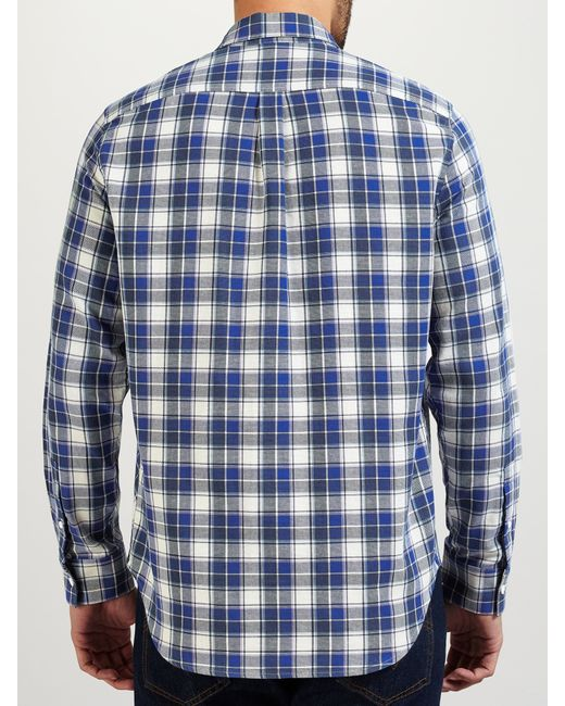 Levi 39 S Made Crafted Shirt In Blue For Men White Blue