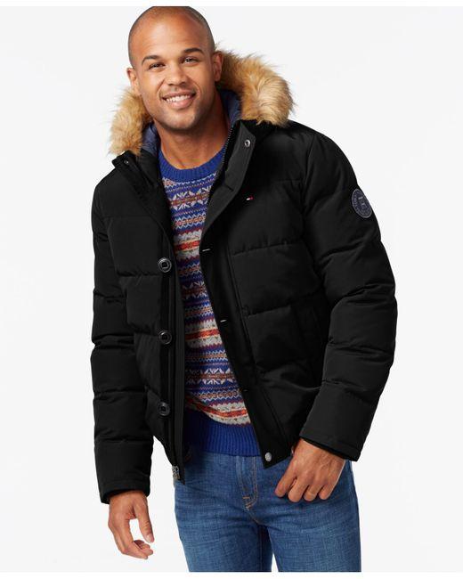 Tommy Hilfiger   Black Short Snorkel Coat for Men   Lyst