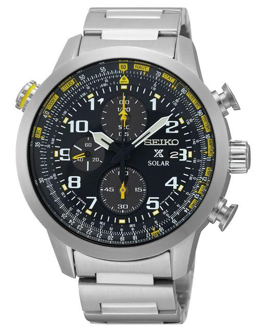 Seiko Men's Solar Chronograph Prospex Stainless Steel ...