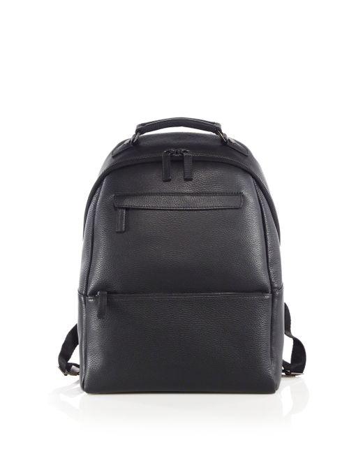 Saks Fifth Avenue | Black Oblique-zip Leather Backpack for Men | Lyst