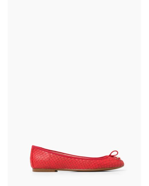 Mango | Red Bow Ballerinas | Lyst