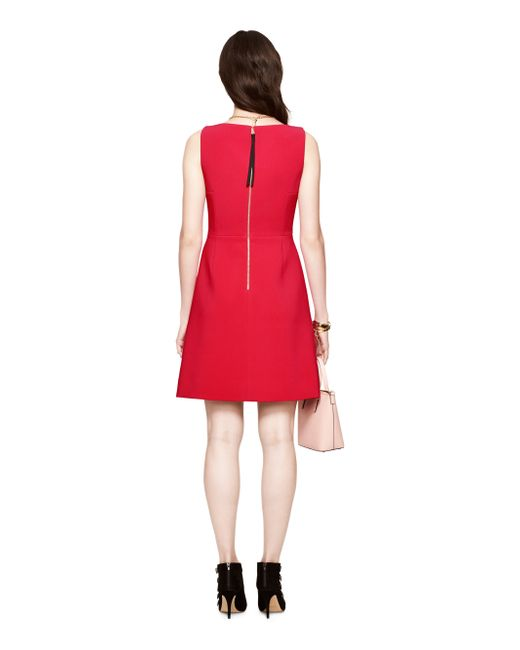 Kate Spade | Red Stretch Crepe A-line Dress | Lyst