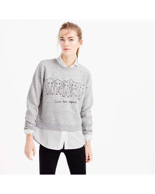 J.Crew | Gray Women's For David Sheldrick Wildlife Trust Save More Elephants Sweatshirt | Lyst