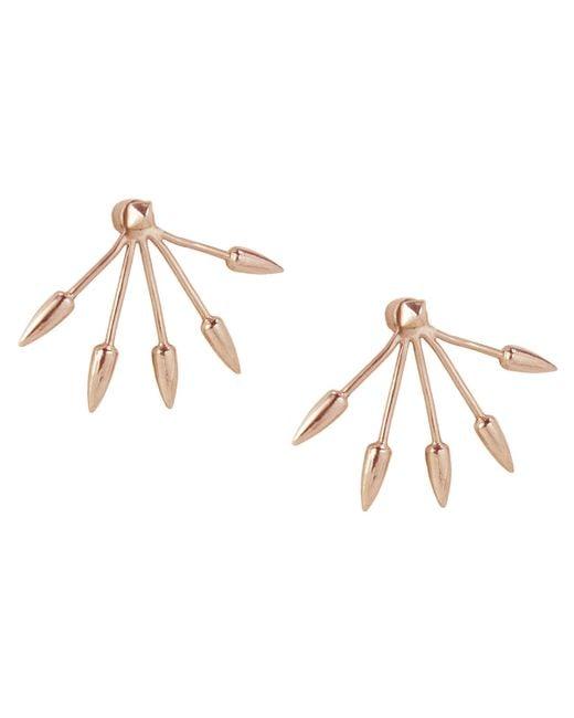Pamela Love | Pink 5 Spike Earrings | Lyst