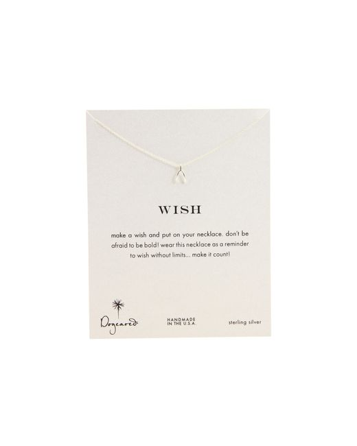 Dogeared | Metallic Wish Reminder 16 Inch | Lyst