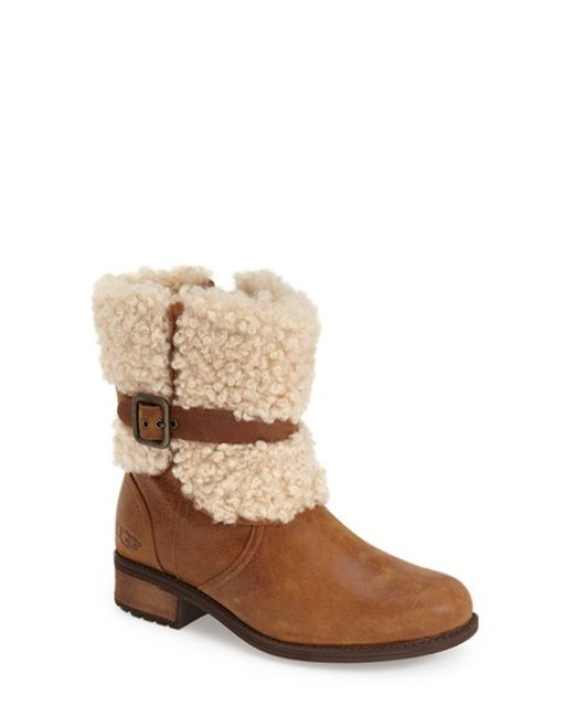 Ugg | Brown Ugg 'blayre Ii' Shearling Cuff Bootie | Lyst