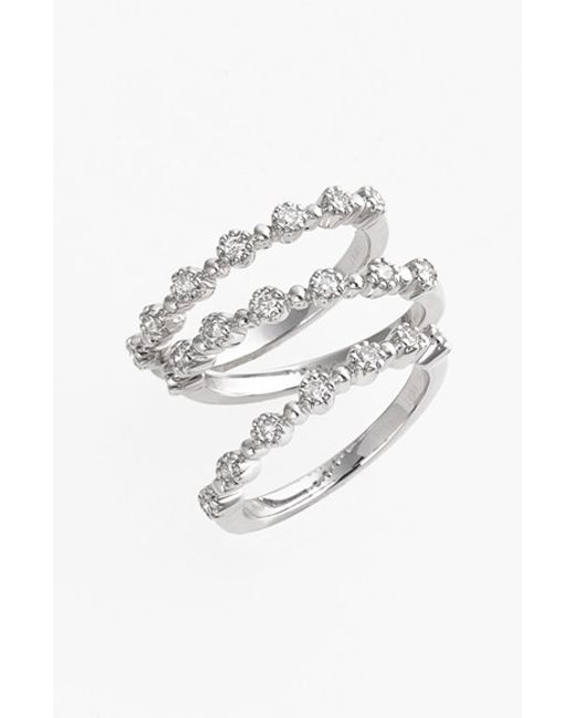 Kwiat | Metallic 'stardust' Diamond Stackable Rings (set Of 3) | Lyst