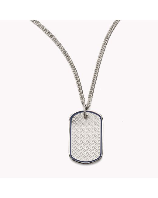 Tommy Hilfiger | Multicolor Dog Tag Necklace | Lyst