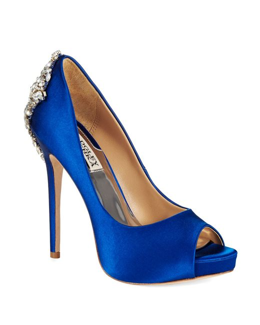 Badgley Mischka | Blue Kiara Platforms Stilettos | Lyst
