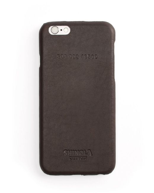 Shinola | Brown Leather Wrapped Iphone 6 Case | Lyst