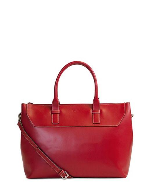Lodis | Red 'audrey Wilhelmina' Leather Work Satchel | Lyst