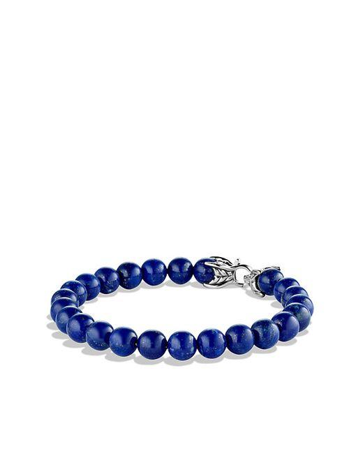 David Yurman | Metallic Spiritual Beads Bracelet With Lapis Lazuli for Men | Lyst