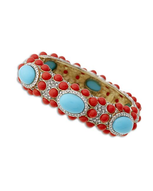Kenneth Jay Lane | Pink Coral And Turquoise Bracelet | Lyst