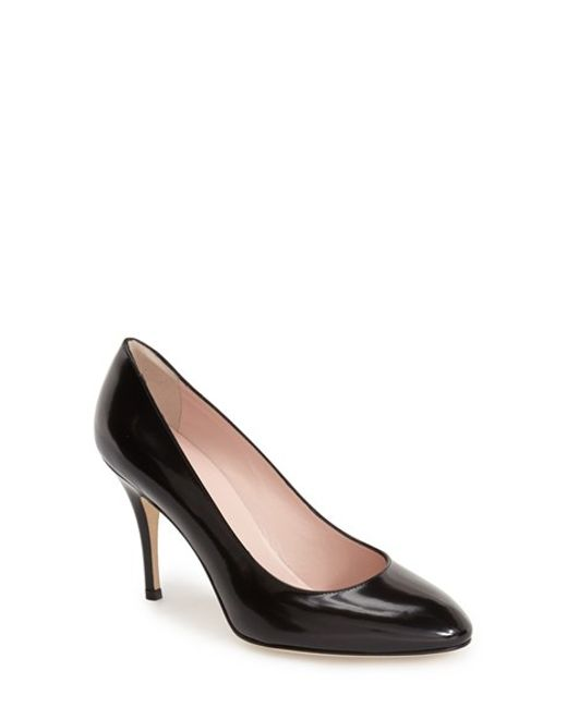 kate spade new york | Black Dani Leather Pumps | Lyst