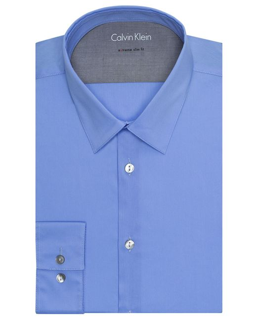 Calvin Klein | Blue Extreme Slim Fit Dress Shirt for Men | Lyst