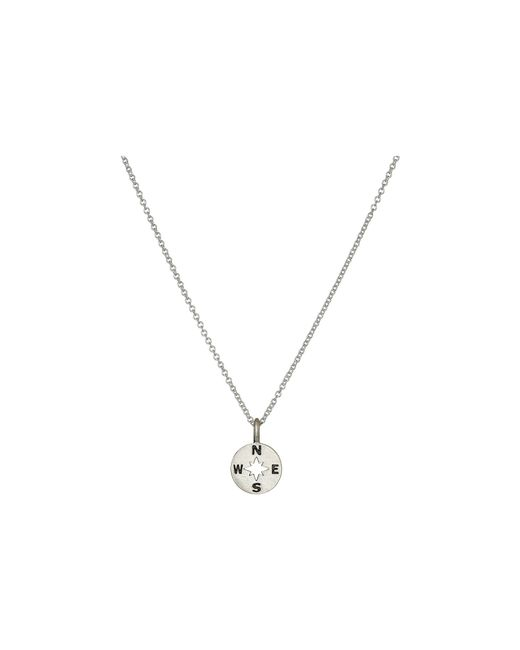 Dogeared   Metallic Going Places Compass Reminder Necklace   Lyst