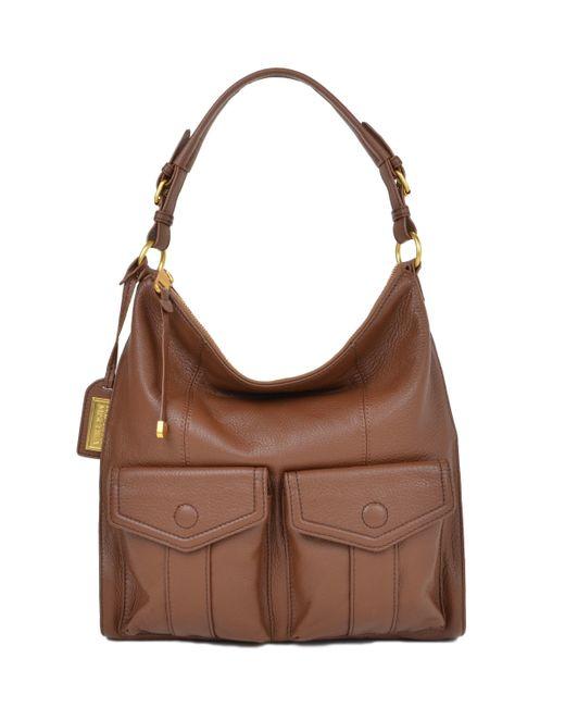 Badgley Mischka   Brown Leia Soft Pebble Handbag   Lyst
