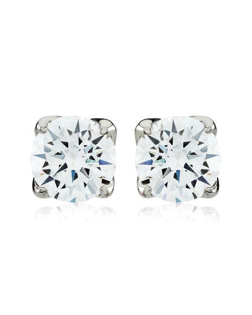Carat* | Metallic 1ct Round Cut Stud Earrings | Lyst