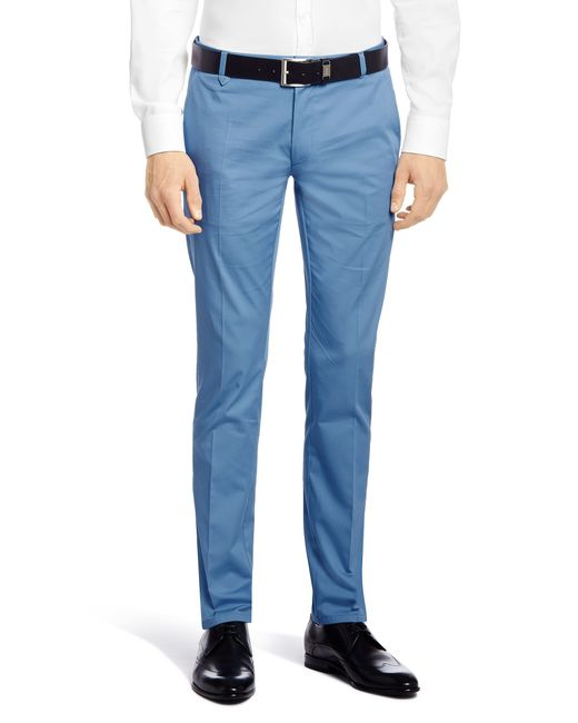 HUGO | Gray Extra Slim-fit Chinos In Stretch Cotton: 'heldor1' for Men | Lyst